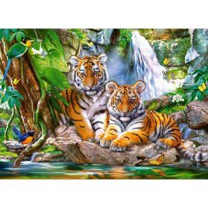 Castorland - Тигри край водопада - 300 части - картина