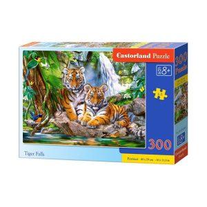 Castorland - Тигри край водопада - 300 части - кутия