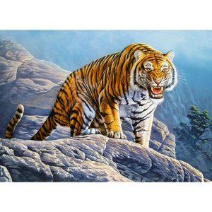 Castorland - Тигър на скалите - 180 части - картина