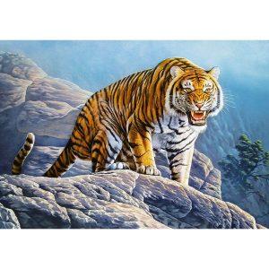 Castorland - Тигър на скалите - 500 части - картина