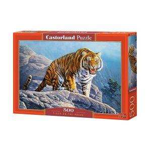Castorland - Тигър на скалите - 500 части - кутия