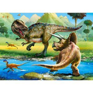 Castorland - Тиранозавър срещу Трицератопс - 70 части - картина