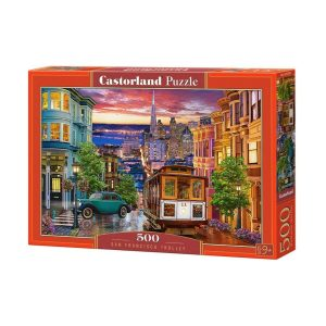 Castorland - Тролей в Сан Франциско - 500 части - кутия