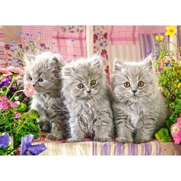 Castorland - Три сиви котенца - 260 части - картина