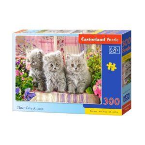 Castorland - Три сиви котенца - 300 части - кутия