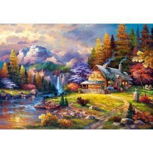 Castorland - Убежище в планината - 1500 части - картина