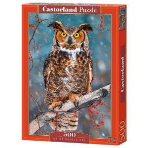 Castorland - Величествен бухал - 500 части - кутия
