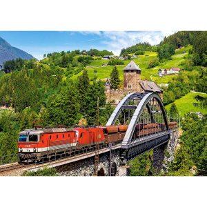 Castorland - Влак на моста - 500 части - картина