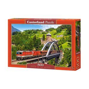 Castorland - Влак на моста - 500 части - кутия