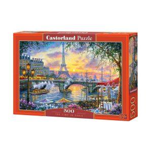 Castorland - Време за чай в Париж - 500 части - кутия