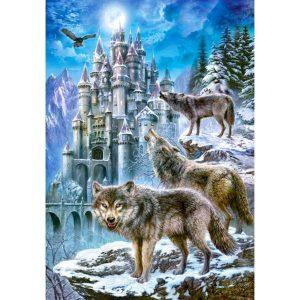 Castorland - Вълци и замък - 1500 части - картина