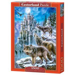 Castorland - Вълци и замък - 1500 части - кутия
