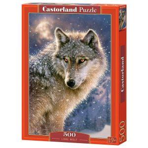 Castorland - Вълк единак - 500 части - кутия
