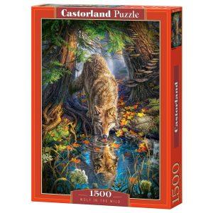 Castorland - Вълк в дивото - 1500 части - кутия