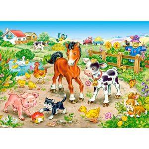 Castorland - Във фермата - 120 части - картина