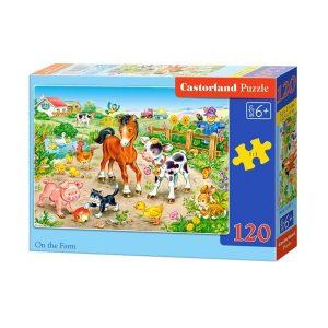 Castorland - Във фермата - 120 части - кутия
