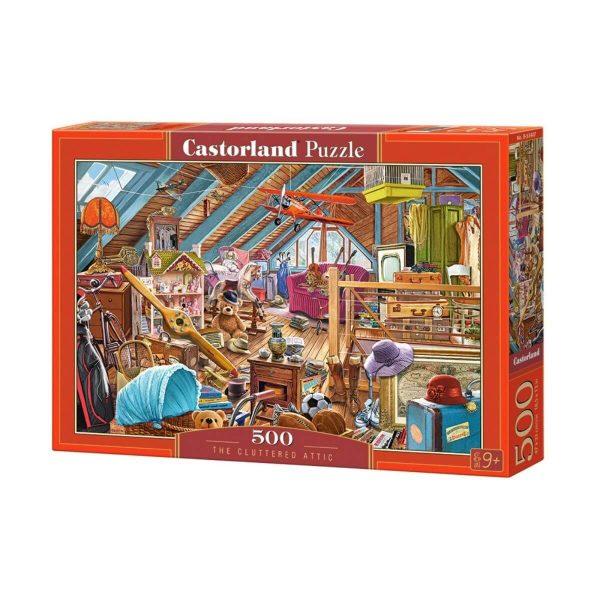 Castorland - Затрупаното таванско помещение - 500 части - кутия