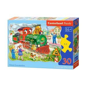 Castorland - Зелен локомотив - 30 части - кутия