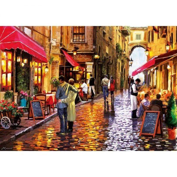 Jigsaw Puzzle - Улица с кафенета - 1000 части - картина