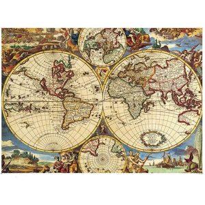 Jigsaw Puzzle - Карта - 1000 части - картина
