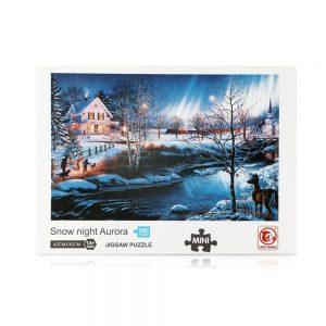 Jigsaw Puzzle - Мини пъзел - Снежна вечер - 1000 части - кутия