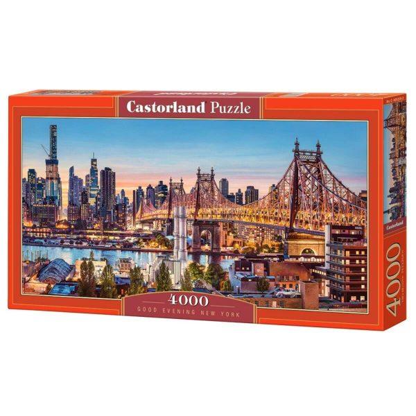 Castorland - Добър вечер, Ню Йорк - 4000 части - кутия