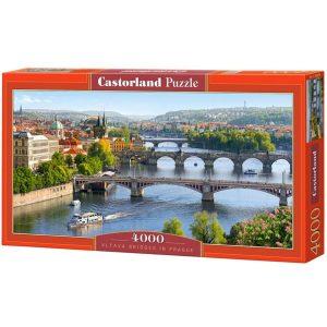 Castorland - Мостовете над река Вълтава - 4000 части - кутия