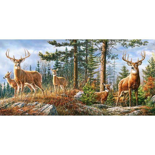 Castorland - Семейство кралски елени - 4000 части - картина
