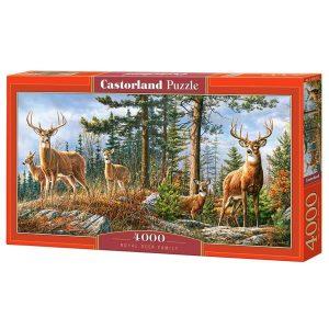 Castorland - Семейство кралски елени - 4000 части - кутия