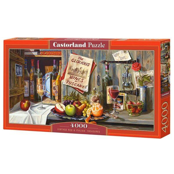 Castorland - Винтидж червени италиански съкровища - 4000 части - кутия