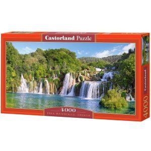 Castorland - Водопадите в Крка, Хърватия - 4000 части - кутия