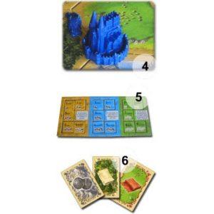 Разширение - Catan Градове и Рицари - компоненти